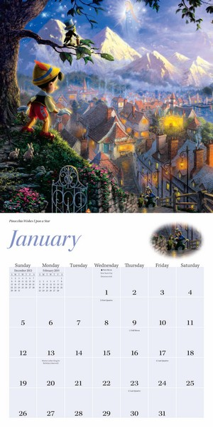 Thomas Kinkade: The Disney Dreams Collection Calendar 2014 inside 9781449435554