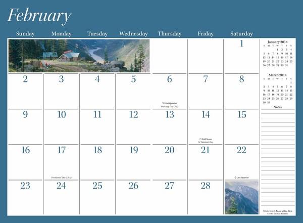 Large Calendar Planner : Kinkade calendar calendars free shipping at