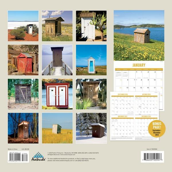 Outhouses Calendar 2014  back 9781469401119