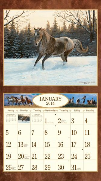 Lang: Horses In The Mist Calendar 2014  inside 9780741246233