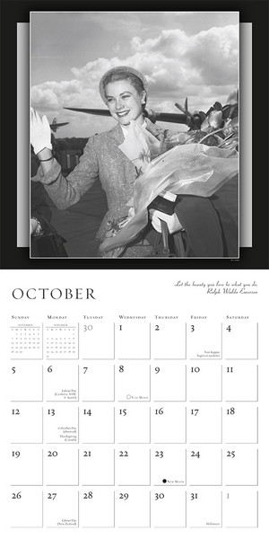 Grace Kelly Calendar 2014 inside 9781416293286