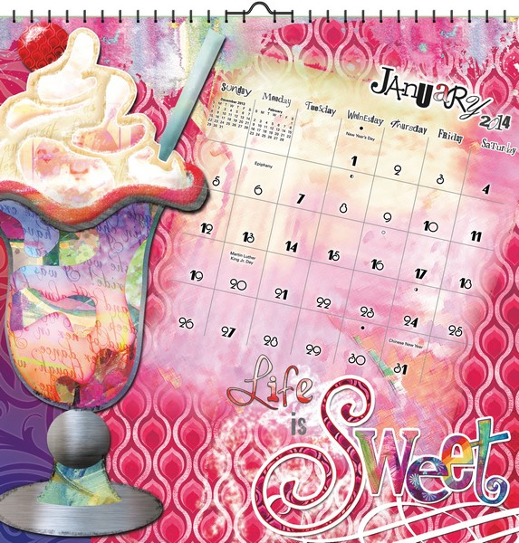 Boho Arts–Connie Haley Art Calendar 2014 inside 9781438828701