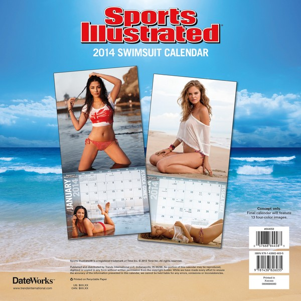 Sports Illustrated Calendar 2014 back 9781438826035
