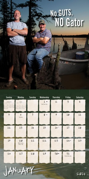 Swamp People Calendar 2014 inside at MegaCalendars.com
